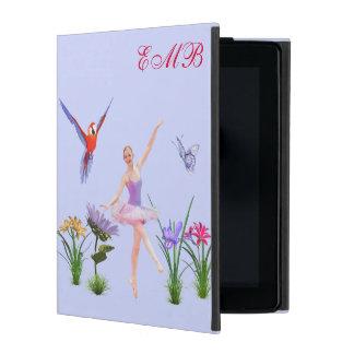 Ballet Fantasy, Flowers, Butterfly, Monogram iPad Folio Case