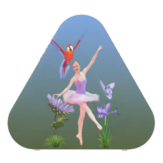 Ballet Fantasy, Flowers, Parrot, Butterfly Bluetooth Speaker