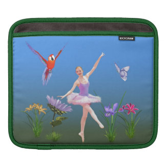 Ballet Fantasy, Flowers, Parrot, Butterfly Sleeve For iPads