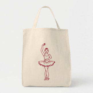 Ballet Fourth Position Tote Bags