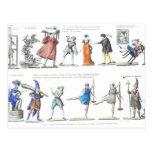 Ballet francés de moda de las imágenes del vintage postales