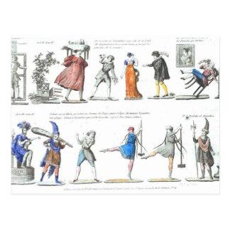 Ballet francés de moda de las imágenes del vintage tarjeta postal