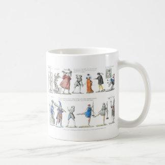 Ballet francés de moda de las imágenes del vintage taza clásica