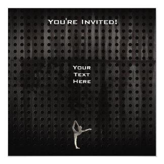 """Ballet fresco del Grunge Invitación 5.25"""" X 5.25"""""""