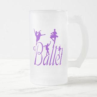Ballet Frosted Glass Beer Mug