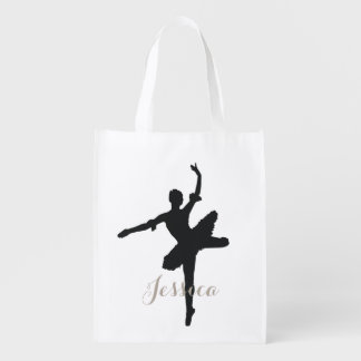 Ballet Grocery Bag with Custom Name