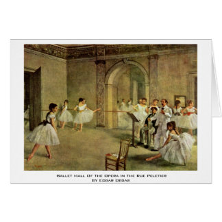 Ballet Hall Of The Opera In The Rue Peletier Greeting Card