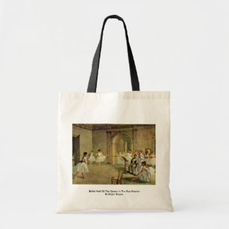 Ballet Hall Of The Opera In The Rue Peletier Tote Bag