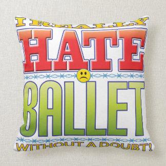 Ballet Hate Face Pillows