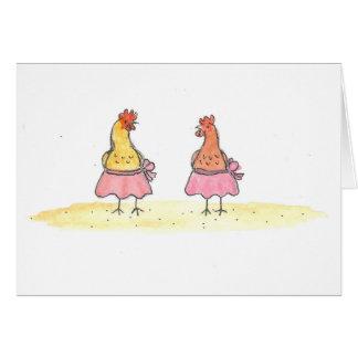 Ballet Hens Card
