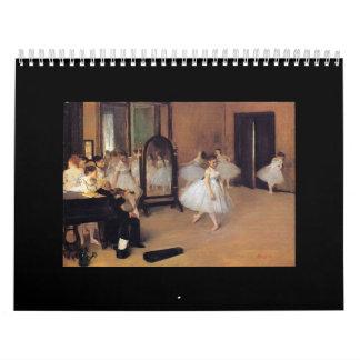 Ballet in Art, 2017 Dance Calendar, Degas, Renoir Calendar