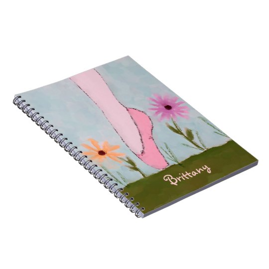 Ballet in Flowers Customizable Notebook