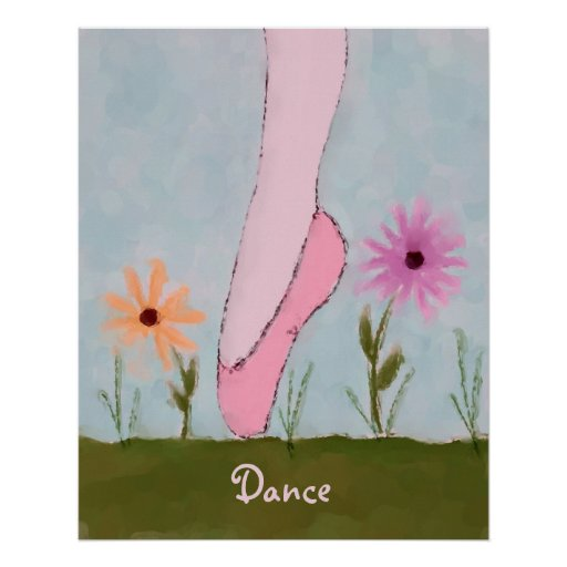 Ballet in Flowers Customizable Poster Print