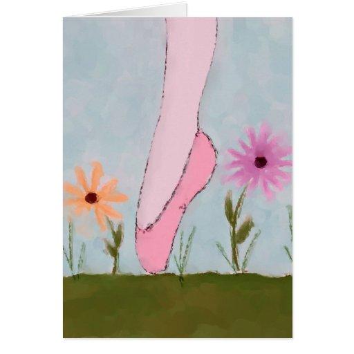 Ballet in Flowers Note Card