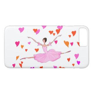 BALLET IPHONE COVER, BALLERINA JUMPING GRAND JETE iPhone 8 PLUS/7 PLUS CASE