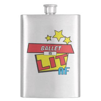 Ballet is LIT AF Pop Art comic book style Flask