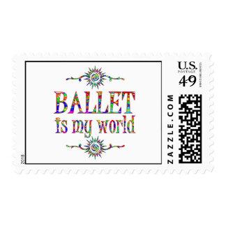 Ballet is My World Postage Stamp
