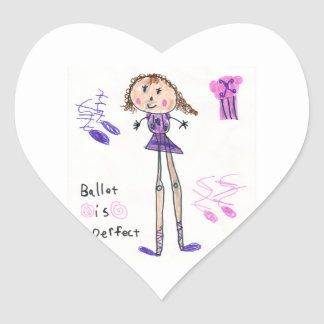 Ballet is Perfect Heart Sticker