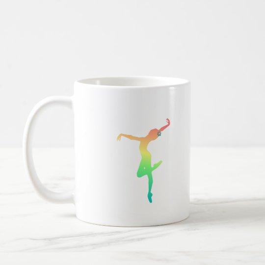 ballet jazz rainbow dancer square coffee mug zazzle com