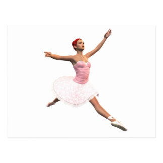 Ballet Jete Postcard