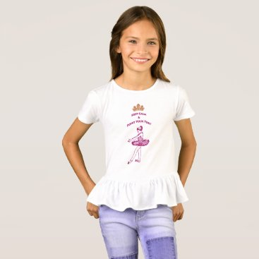 Beach Themed Ballet-Keep Calm & Point Your Toes Ruffled T-Shirt