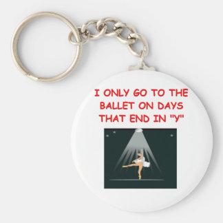 ballet keychain