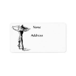 Ballet Personalized Address Label