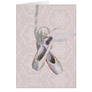 'Ballet & Lace' Blank Greeting Card