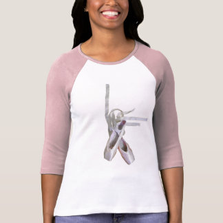 'Ballet' Ladies' 3/4 Sleeve Raglan T-shirt