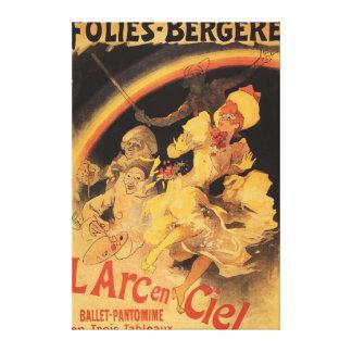 ballet L'Arc-en-Ciel en Folies-Bergere Impresión En Lienzo