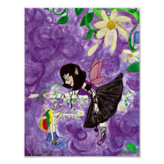 Ballet lesson Fairy and House-elf Art Poster