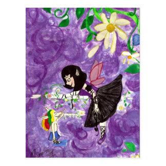 Ballet lesson Fairy and House-elf Fantasy Postcard