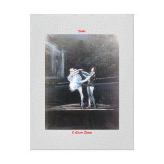 Ballet Impresión En Lona Estirada