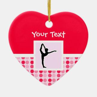 Ballet lindo adorno de cerámica en forma de corazón