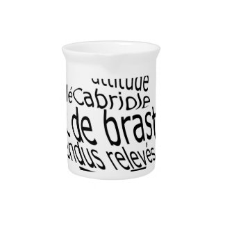 ballet lingo drink pitcher