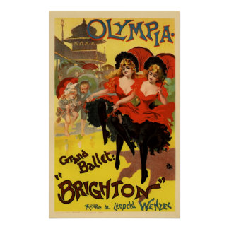 Ballet magnífico Brighton de Olympia Póster