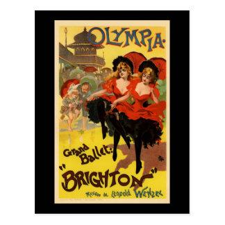 Ballet magnífico Brighton de Olympia Tarjetas Postales
