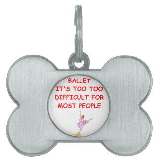 ballet placa mascota