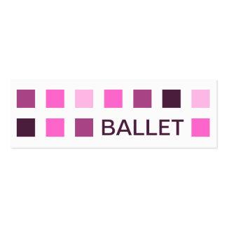 BALLET (mod squares) Mini Business Card