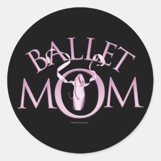 Ballet Mom Classic Round Sticker