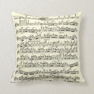 Ballet Music and Dancers Throw Pillow