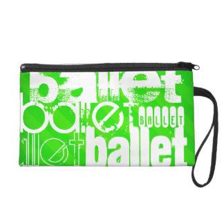 Ballet; Neon Green Stripes Wristlets