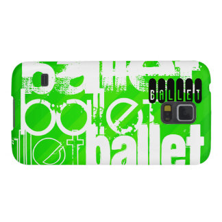 Ballet; Neon Green Stripes Case For Galaxy S5