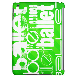 Ballet; Neon Green Stripes iPad Air Covers