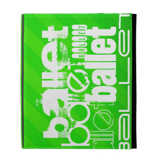 Ballet; Neon Green Stripes iPad Cases