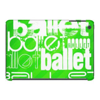 Ballet; Neon Green Stripes iPad Mini Cover