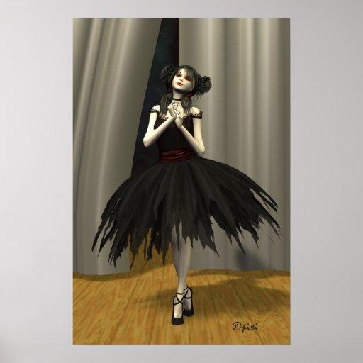 """""""Ballet Noire"""" Poster"""