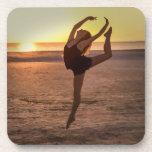 Ballet on the Beach Cork Coaster Drink Coaster