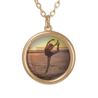 Ballet on the Beach Gold Plated Necklace