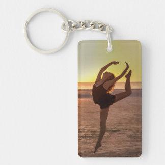 Ballet on the Beach Keychain